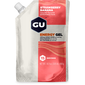 GU Energy Gel Bulk Pack 480g, Strawberry Banana